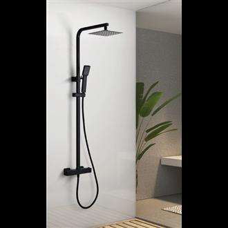 Colonne de douche thermostatique noir mat serie VIGO -  IMEX