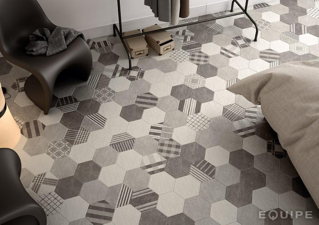 Carrelage intérieur HEXATILE hexagonal 17,5x20 - EQUIPE CERAMICAS