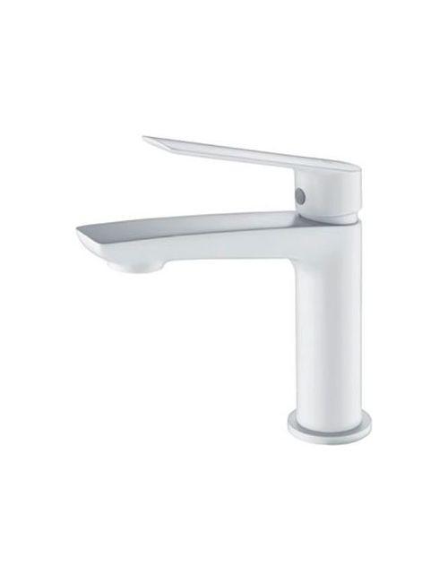Mitigeur lavabo monocommande blanc mat série LUXOR - IMEX