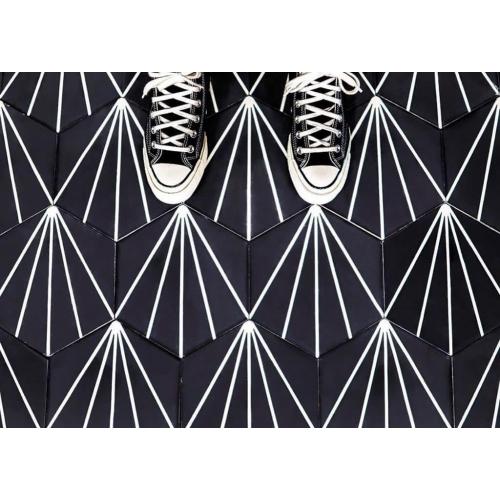 Véritable Carreau ciment hexagonal DANDELION 20x17 - MOSAICSAHARA