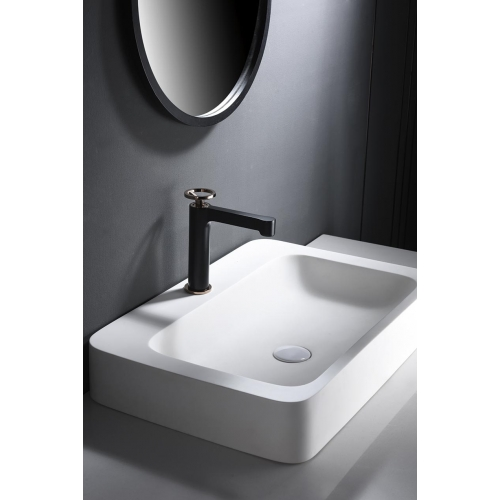 Mitigeur lavabo monocommande noir doré rosé série OLIMPO -  IMEX
