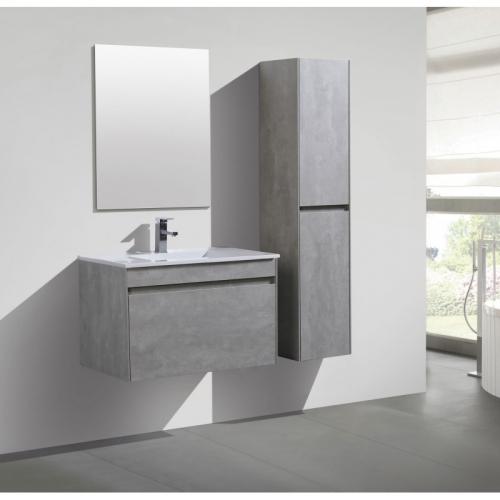 Ensemble Meuble suspendu 80cm + miroir et colonne série Agate - OTTOFOND