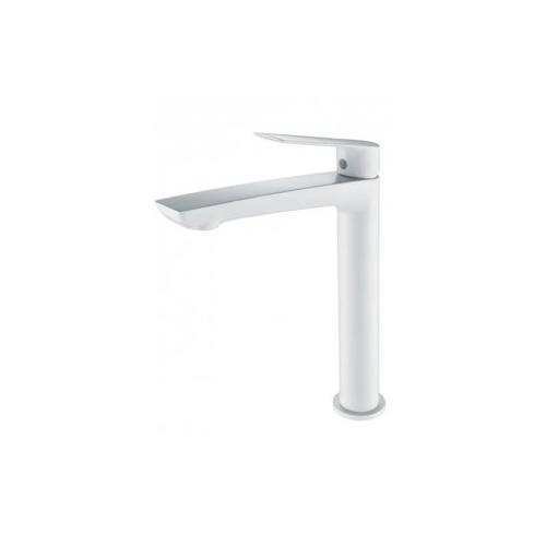 Mitigeur lavabo haut monocommande blanc mat série LUXOR - IMEX